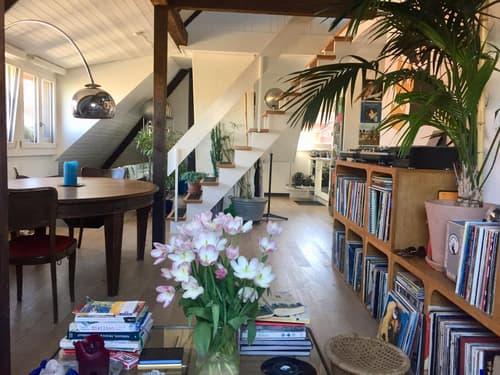 möblierte Dachwohnung mit Galerie in der Lorraine - befristet: ab sofort bis 31. Juli