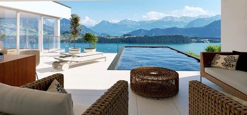 Designer- Villa an Traumlage in Meggen