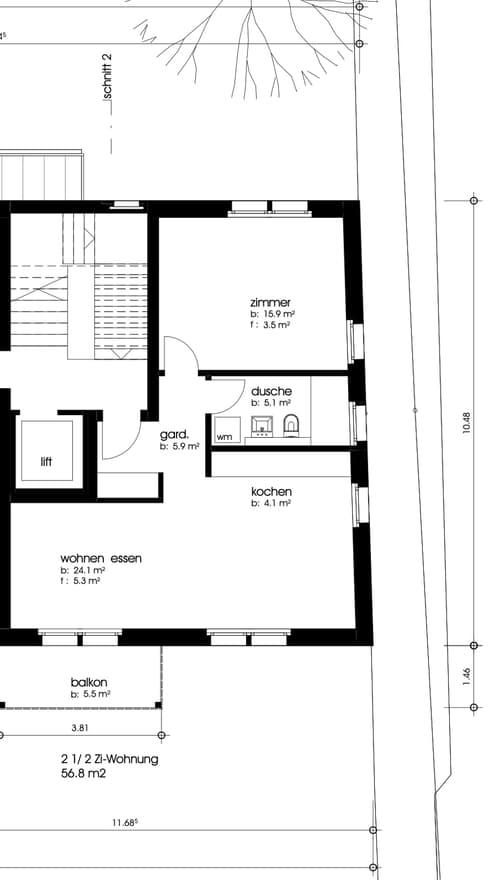 2.5 Zimmerwohnung in Neubau MFH Oberdorfplatz 5, Oetwil a.d.L. zu vermieten