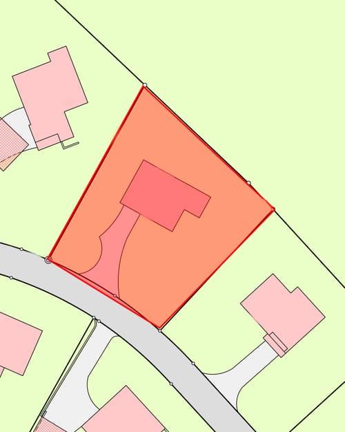 Bauland in EFH Quartier, leichte Hanglage mit Weitsicht