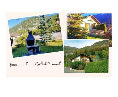 Maison jumelée à La Heutte, 10 min de Bienne
