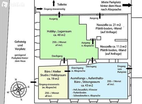 Studio, Atelier, Büro, Sitzungsraum, Lagerraum (1)
