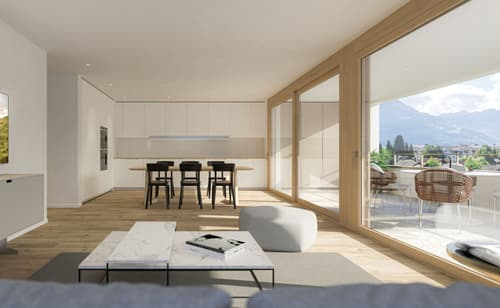 attraktive 4 .5-Zimmer-Eigentumswohnung mit Schlossblick