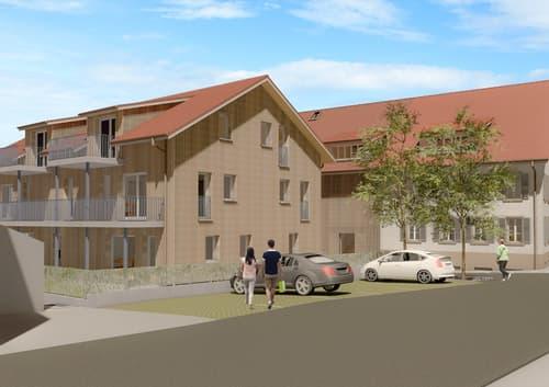 2.5-Zimmer-Wohnung im OG mit grossem Balkon