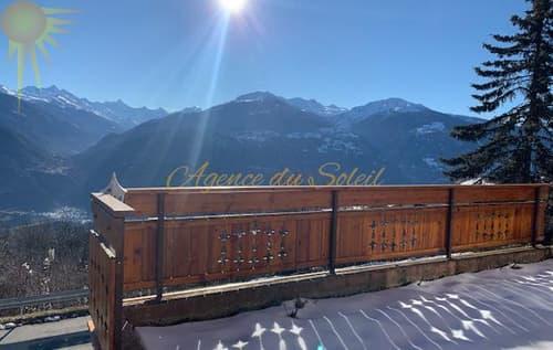 Très joli terrain à bâtir avec une magnifique vue sur les Alpes Valaisannes !
