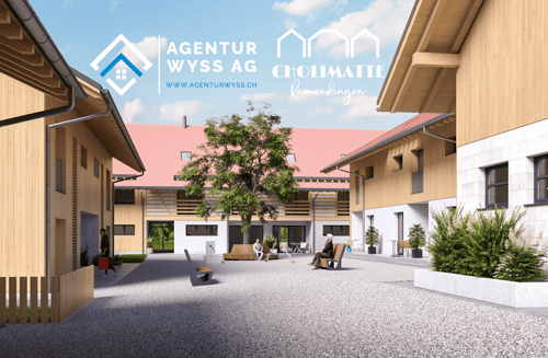 """Agentur Wyss AG: Neubau Wohnhäuser """"Cholimatte"""" Rumendingen 5.5 Zi."""