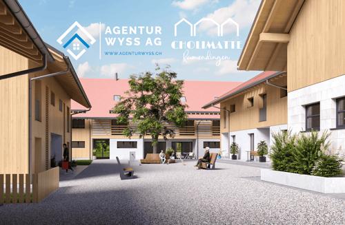 """Agentur Wyss AG: Neubau Wohnhäuser """"Cholimatte"""" Rumendingen 4.5/5.5 Zi. (1)"""
