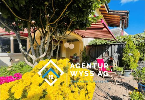 «Agentur Wyss AG: Gepflegtes Wohnhaus mit wunderschönem Garten»