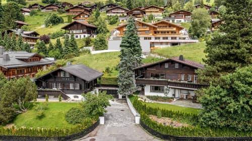Deux chalets avec vue imprenable sur les Alpes Bernoises