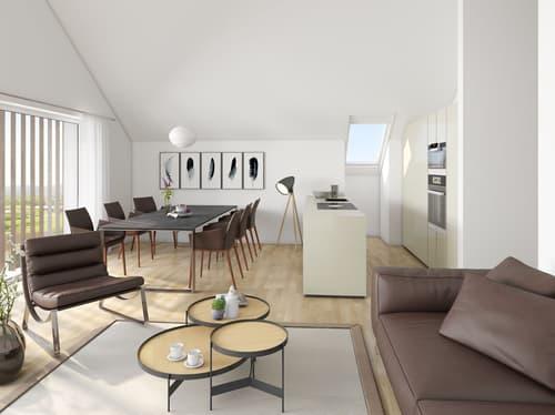 Visualisierung Wohnzimmer DG