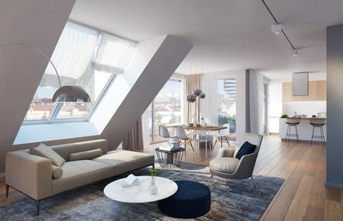 Prunkvolle Maisonette-Wohnung mit Riesendachterrasse!