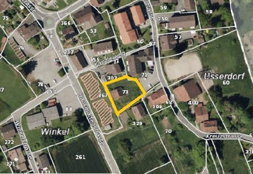 Erschlossenes Bauland mit 937 m2 in der Dorfkernzone von Pfeffikon LU