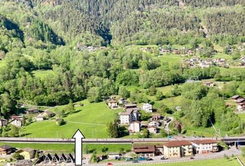 grosses Baulandgrundstück von 5897m2 mit schöner Aussicht / terreno grande edificabile di 5897 m2