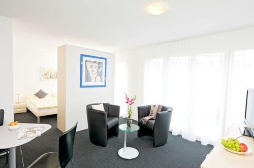 Möblierte 1 1/2-Zimmerwohnungen mit Balkon im Zentrum von Cham