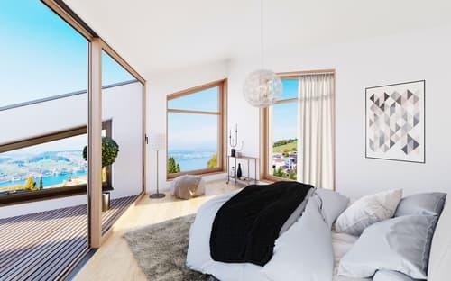 Fürigen / NW - Exklusive neue Duplex-Villa an traumhafter Hanglage zu verkaufen