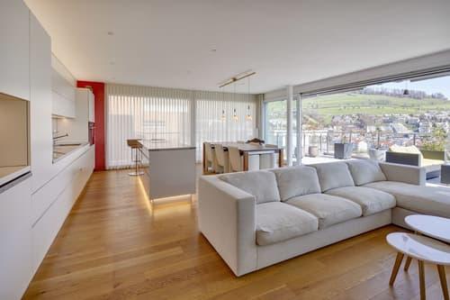 Exklusive Terrassenwohnung an besonderer Aussichtslage in Kriens