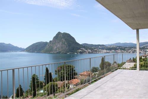 Vista sul golfo di Lugano dal 1° piano