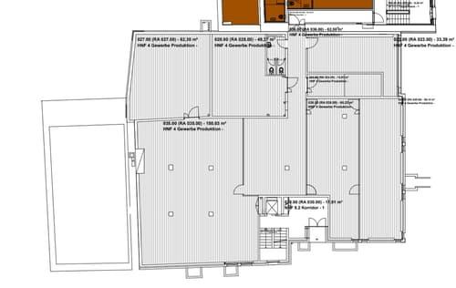 Locaux de 500 m2 divisibles dans bâtiment postal