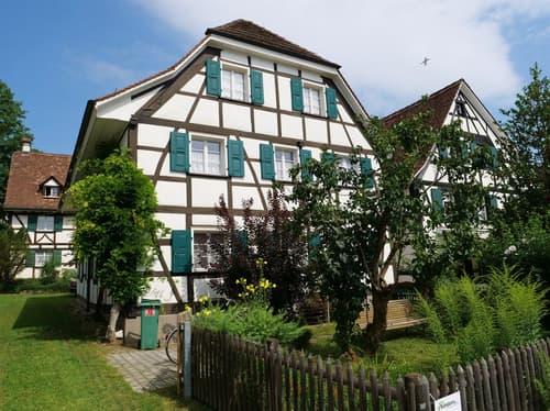 Zwei Riegelbau-Mehrfamilienhäuser im Allschwiler Dorfkern