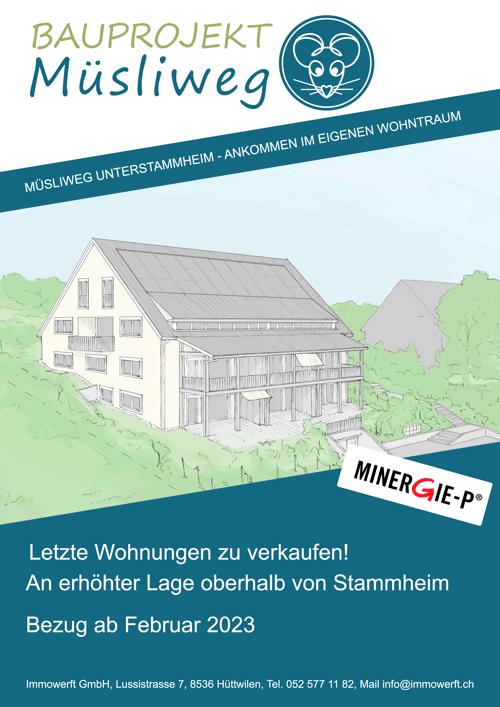 5 1/2 Maisonettwohnung an erhöhter Lage über Unterstammheim zu verkaufen