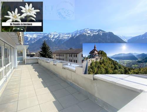 5.5-Zi- Attikawohnung mit großer Dachterrasse, Wintergarten & Studio