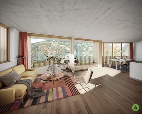 """3½-Zimmer-Gartenwohnung in grandioser Architektur - """"Am See Leissigen"""""""