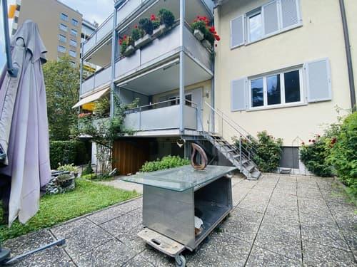 Sehr gepflegte 3-Zimmer Gartenwohnung mit Balkon, Keller und Garten