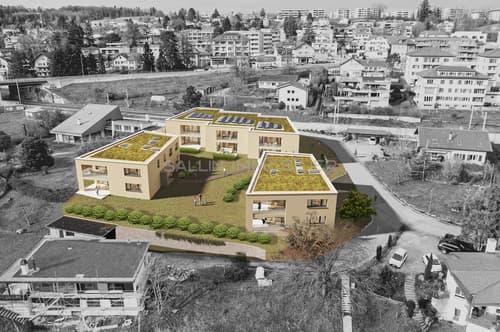2 appartements de 4½ pièces de standing  + pl. de parc int.