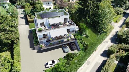Appartement en attique avec terrasse belle vue lac sur plans à Chailly