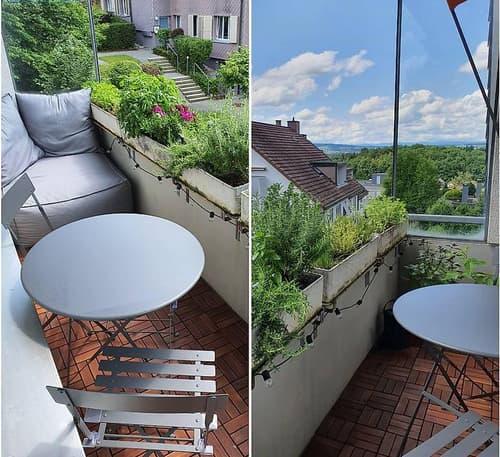 Geräumige Dachwohnung mit sonnigem Balkon