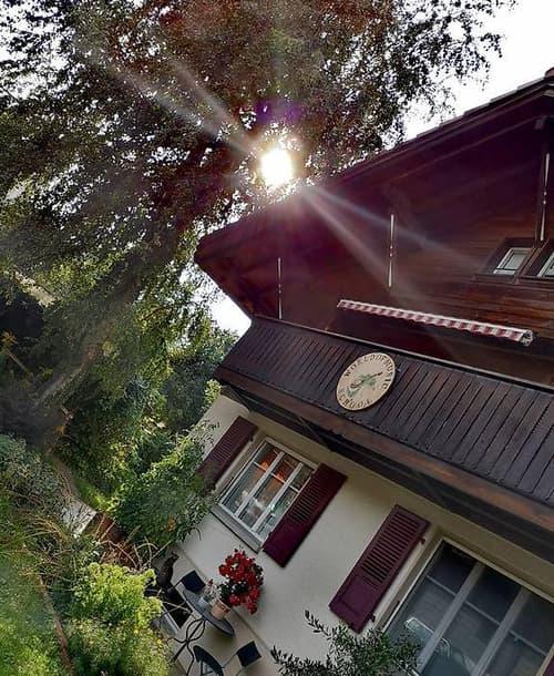 3.5 Zimmer Wohnung in Chalethaus mit grossen Umschwung