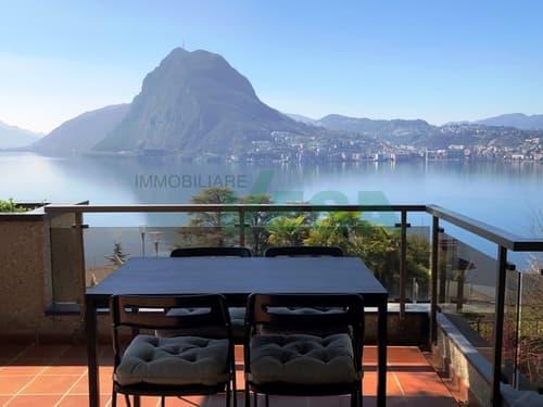 Elegante appartamento 4,5 locali affittato con splendida vista lago