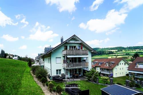 Naturverbundene, ruhige 5.5 Zimmer Eigentumswohnung in Rickenbach