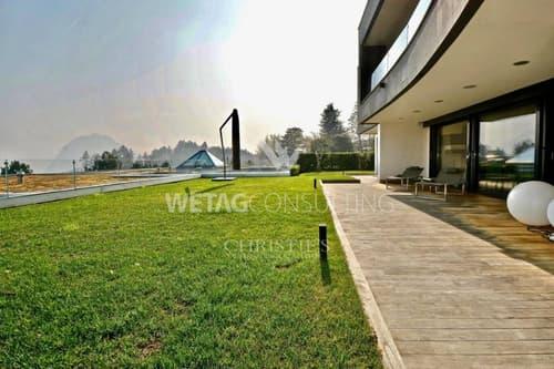 Wohnung in Porza mit privatem Garten & Blick auf den See zu verkaufen (1)