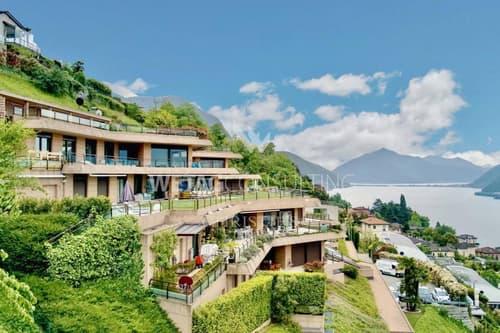 Ruvigliana: Wohnung mit privatem Garten, Pool & Seeblick zu verkaufen