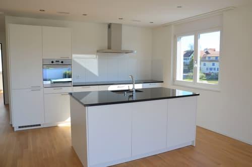 moderne, offene Küche mit Granitabdeckung