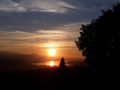 herrliche Sonnenuntergänge über dem Zürichsee