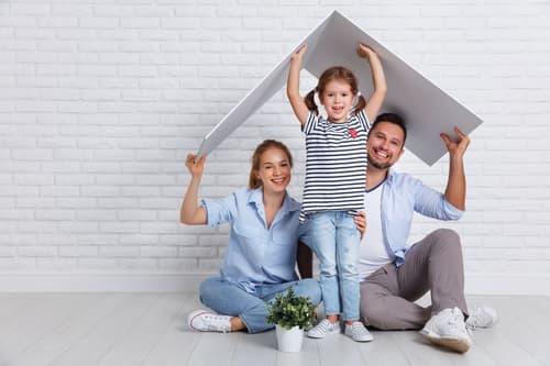 Familienidylle pur - im Grünen das Leben geniessen