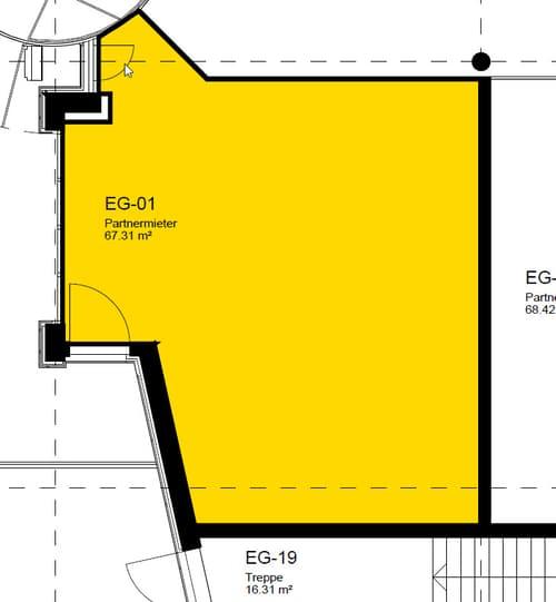Beste Lage direkt am Eingang im EG - Center Einsiedeln (1)