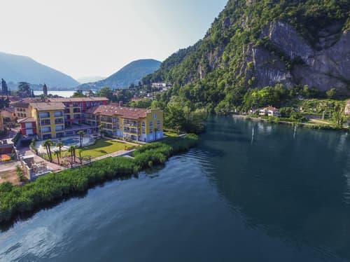 NEUBAU RESIDENZ DIREKT AM LUGANERSEE IN ITALIEN MIT SCHWIMMBAD UND SPA