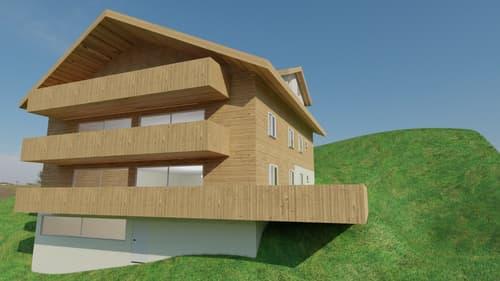 Ein neu zu errichtendes Apartment mit drei Schlafzimmern, schöner Aussicht und einem Spa