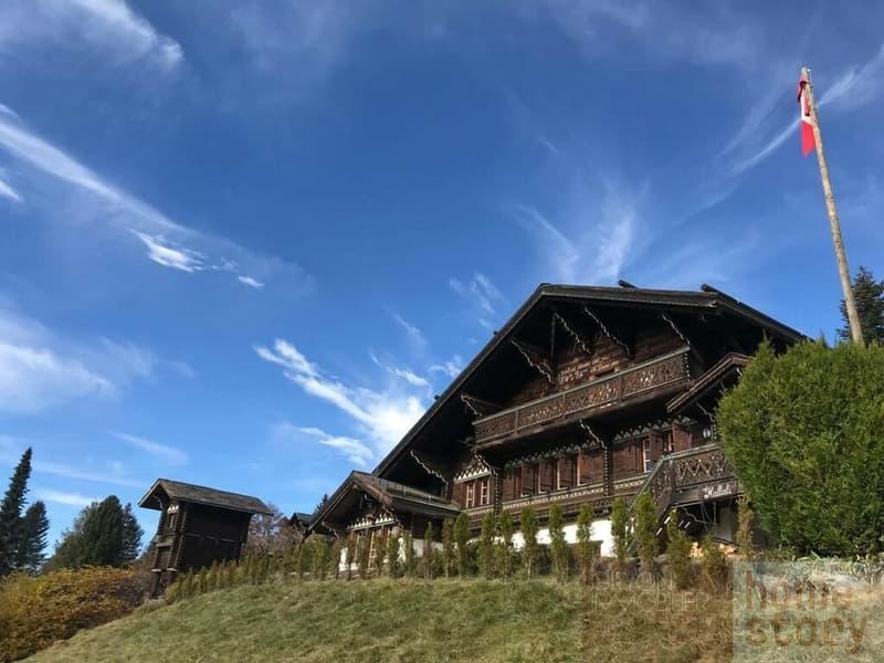 Magnifique chalet rustique sur la piste de ski (1)