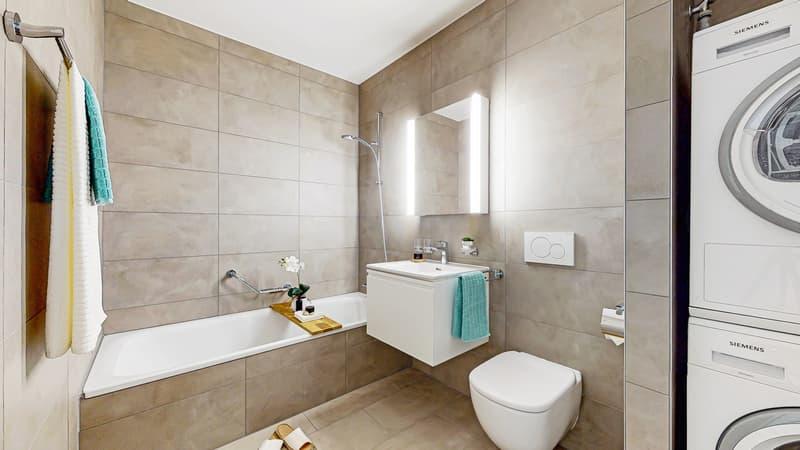 Salle de bains baignoire/WC