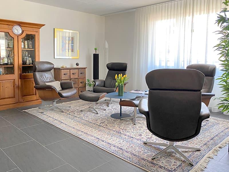 Wohnzimmer Attikawohnung