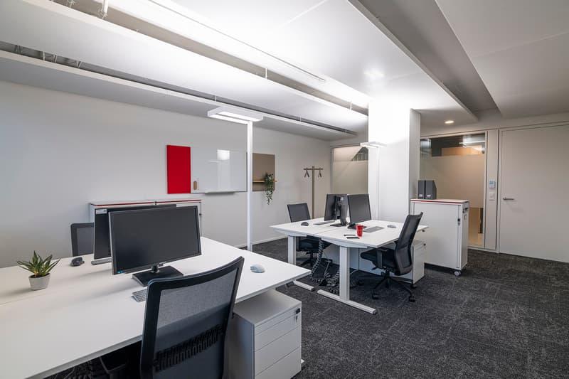 In diesem Office können bis zu 5 Arbeitsplätzen eingerichtet werden.