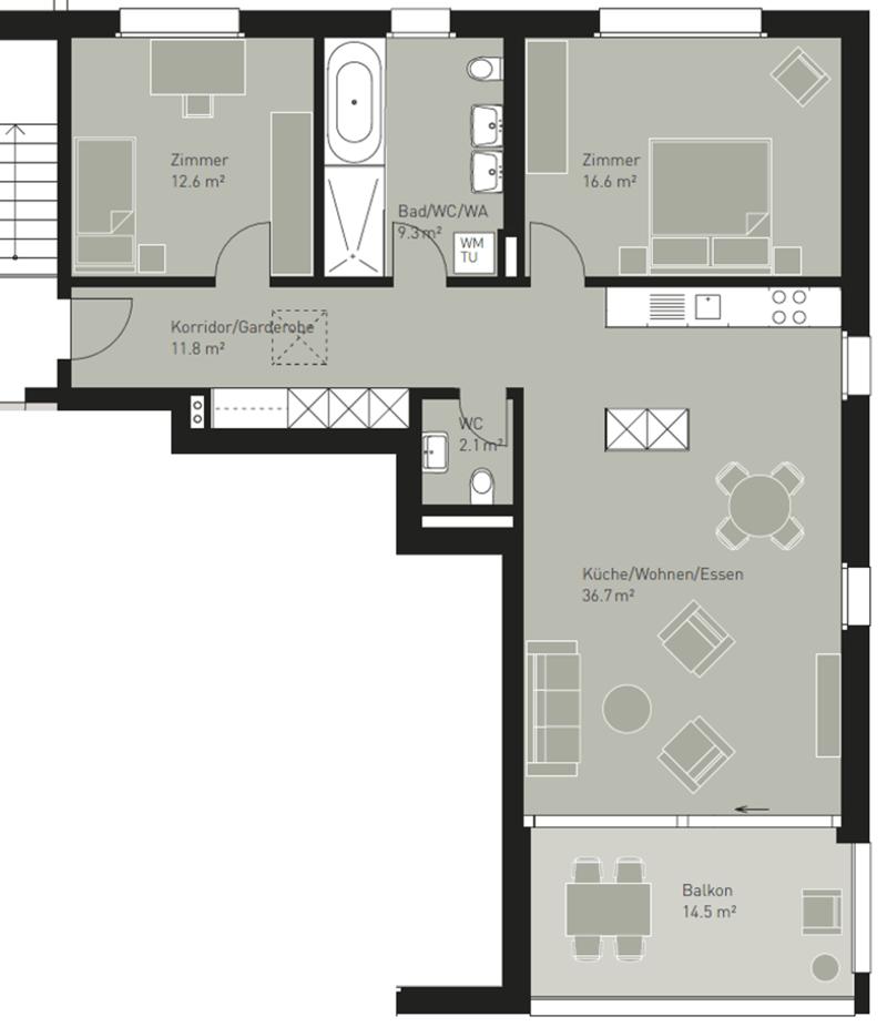 Moderne und gorsszügige 3.5-Zimmerwohnung (12)