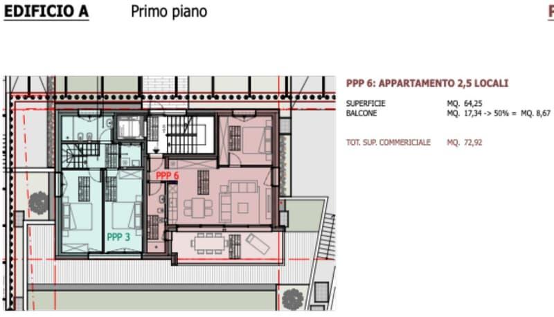 Raffinata Residenza Neggio di 9 appartamenti in vendita - Appartamento 2.5 locali (1)