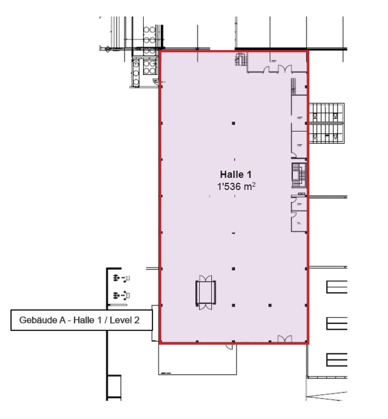 Grundriss 4 Halle, Gebäude A