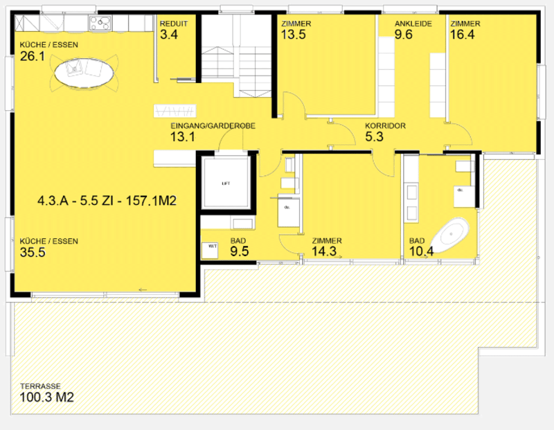 Wunderschöne Attikawohnung mit hohen Räumen (Erstbezug!) (8)