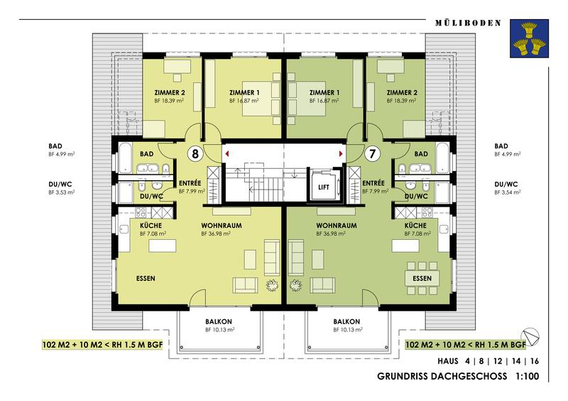 Attraktive 3 1/2-Zimmer-Dachwohnung (6)